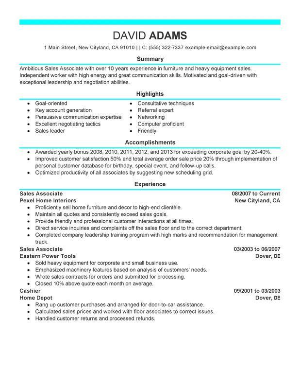 Skills For Sales Associate Resume 27669 | Plgsa.org