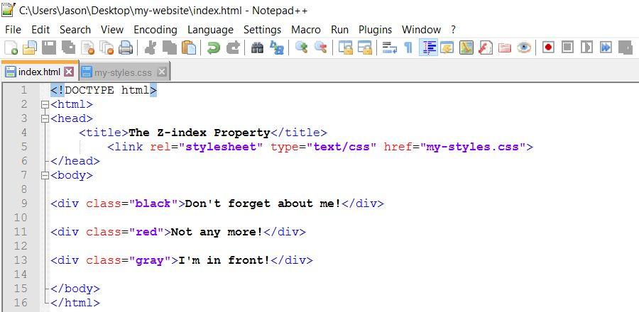 Z Index Property: Web Design: CSS Part 24
