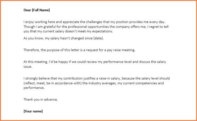 8+ sample salary increase proposal letter | Sales Slip Template
