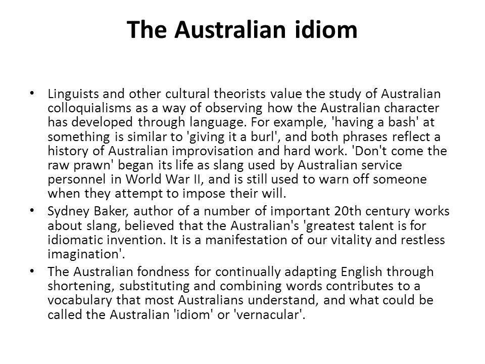 Australian colloquialism - ppt download