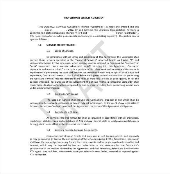 Service Contract In Pdf. Personal Service Contract Sample Service ...