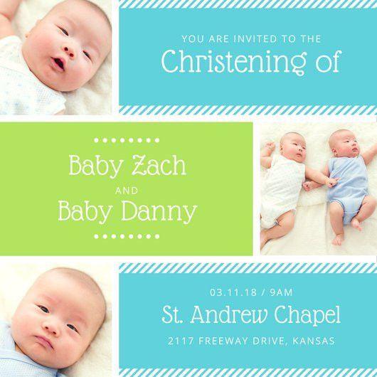 Christening Invitation Templates - Canva