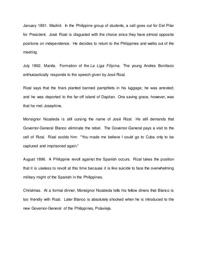 Jose Rizal Movie (Ceasar Montano) Reaction and Reflection Paper