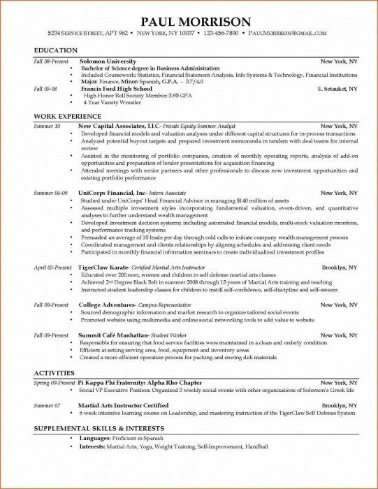Resume Template College Student. Free Student Resume Templates ...