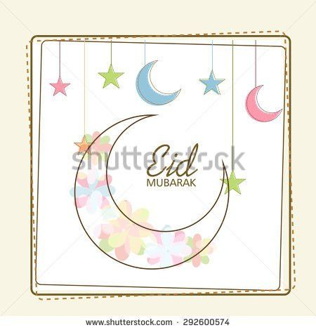 Greeting Card Template Eid Mubarak Stock Illustration 292891631 ...