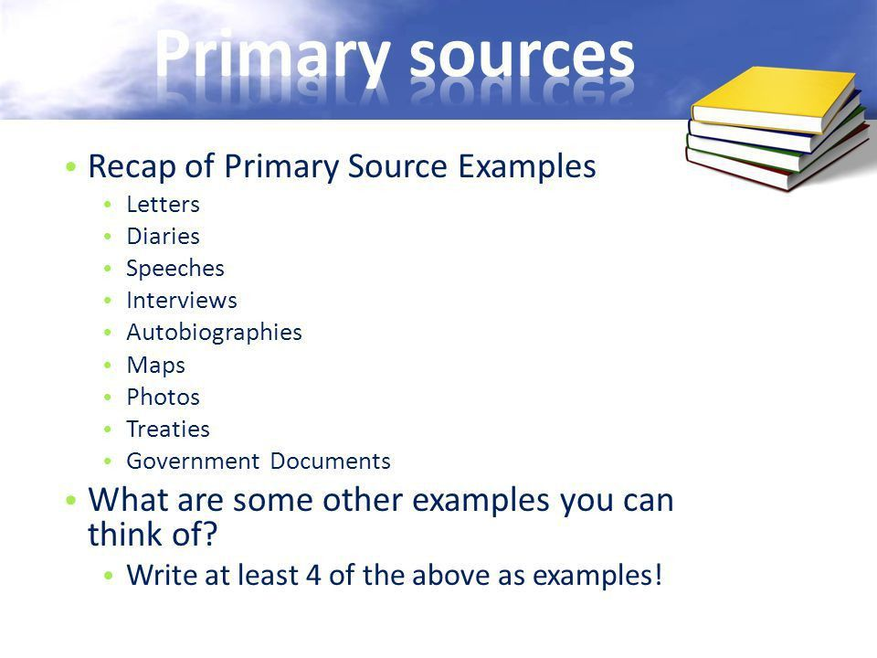Primary and Secondary Sources - ppt video online download