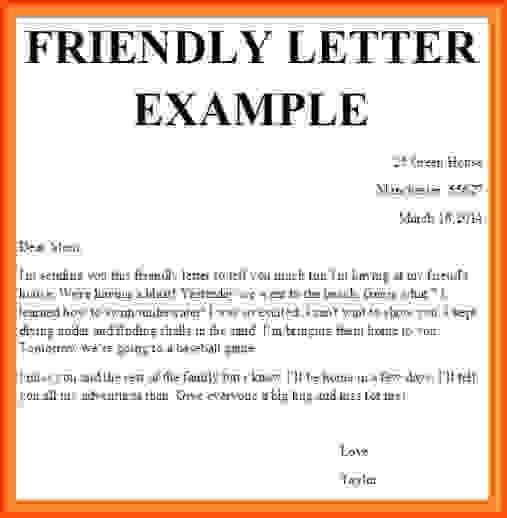 How To Write A Friendly Letter.friendly Letter Example.jpg ...