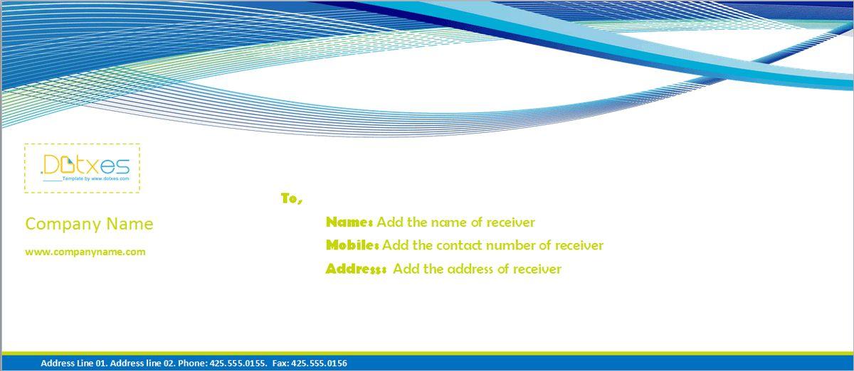 Business envelope template (Vector Line) - Dotxes