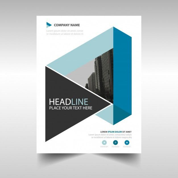 Blue geometric annual report book cover template Vector | Free ...
