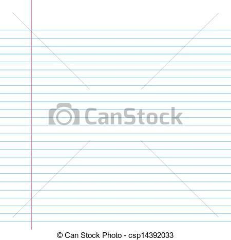 Vectors of Seamless lined paper - Blank notebook filler paper ...