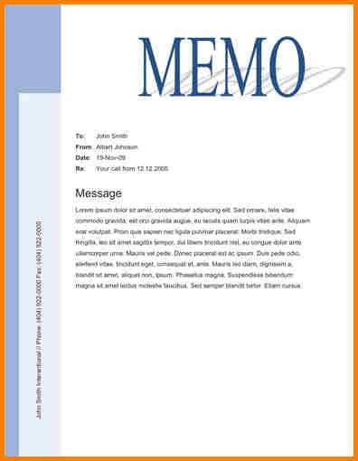 Sample Memo. Memo Formal 5+ Memo Templates - Free Sample, Example ...