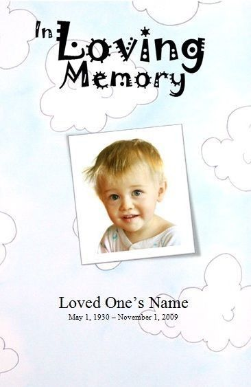 Template for a Funeral Service for a boy. Child Funeral Order of ...