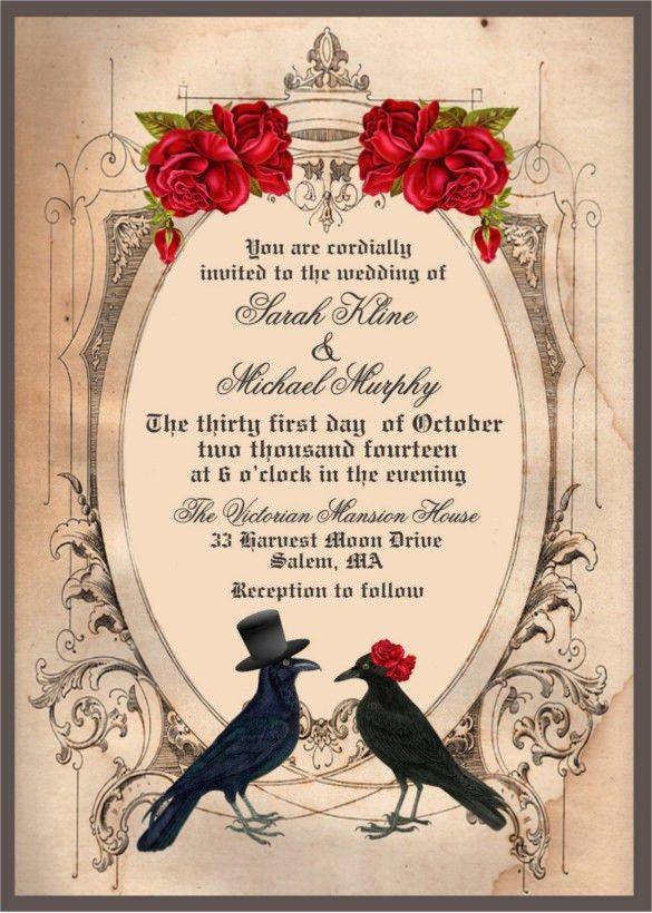 21+ Halloween Wedding Invitation Templates – Free Sample, Example ...