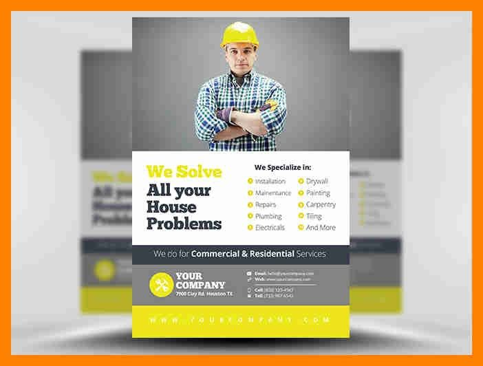 8+ handyman flyer templates | resumes great
