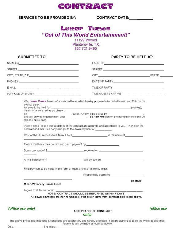 Dj Contract Template   NON COMPETE AGREEMENT - d j contracts ...