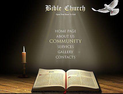 Bible Church flash website template | Best Website Templates