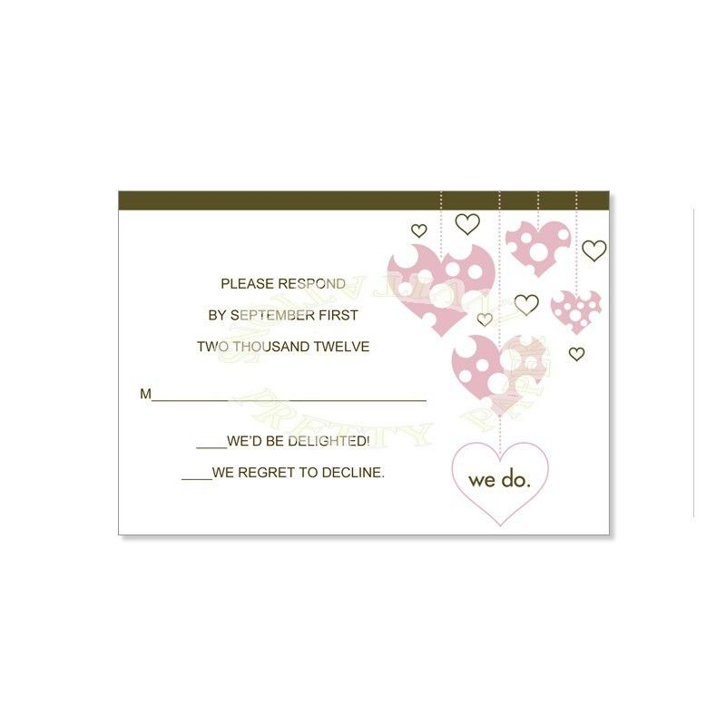 Pink & Brown RSVP Card Templates - Veronica Bloom Do It Yourself ...