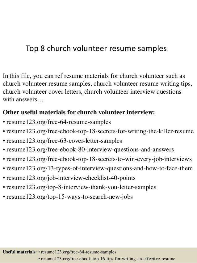 Resume Examples For Volunteer Work Volunteer Experience Resume