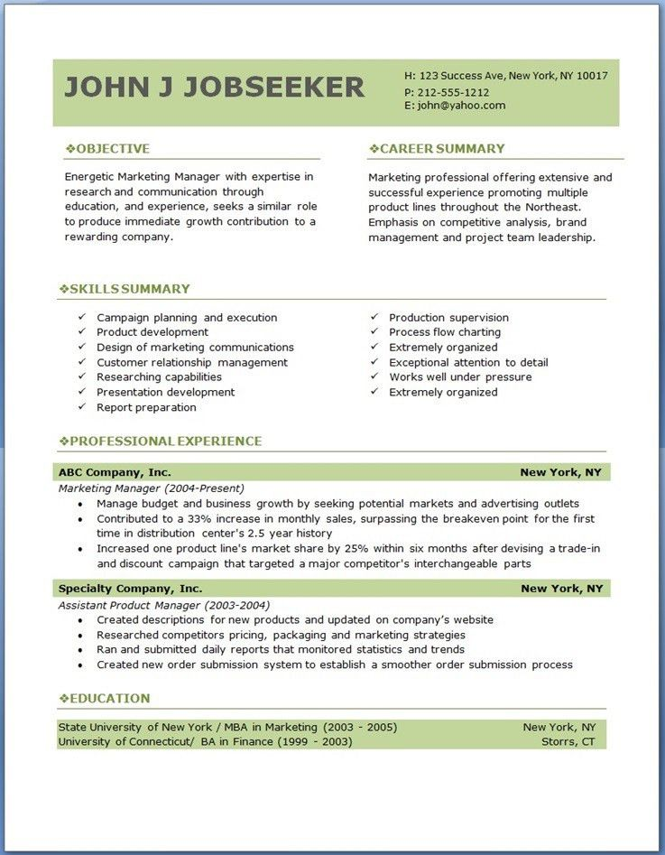 Download Sample Professional Resume Format | haadyaooverbayresort.com