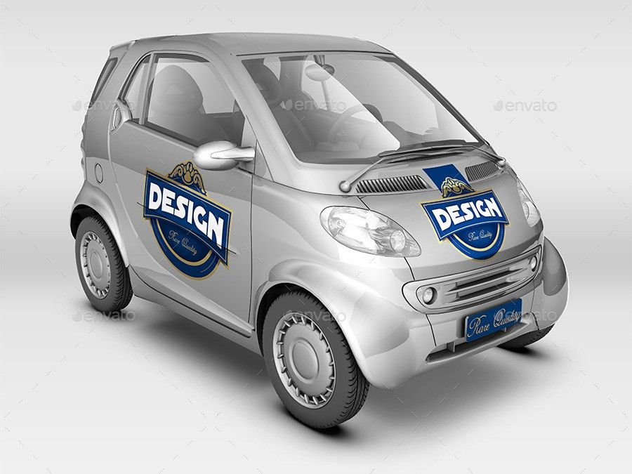 Smart Car Mock Up by Logic_Design   GraphicRiver