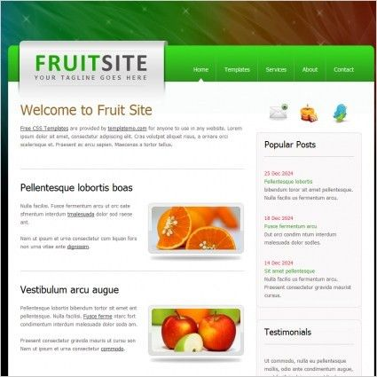 Simple website template free website templates for free download ...