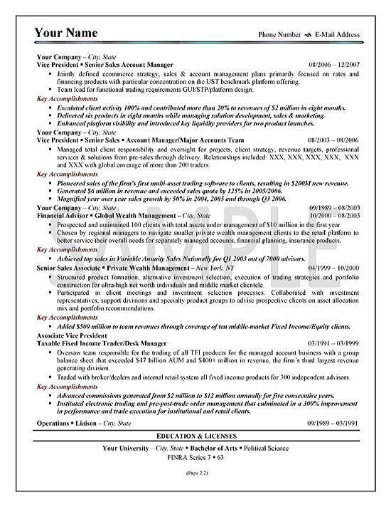 executive resume summary sample resume format sample format of doc ...