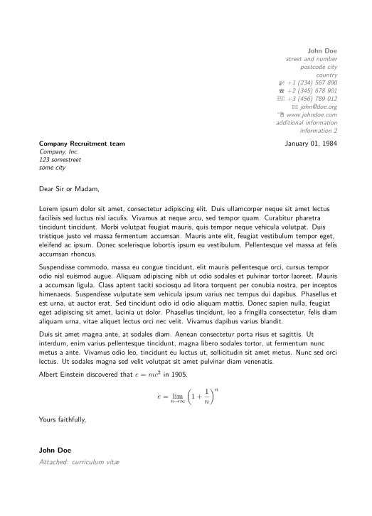 How do I generate CV and cover letter separately in moderncv ...