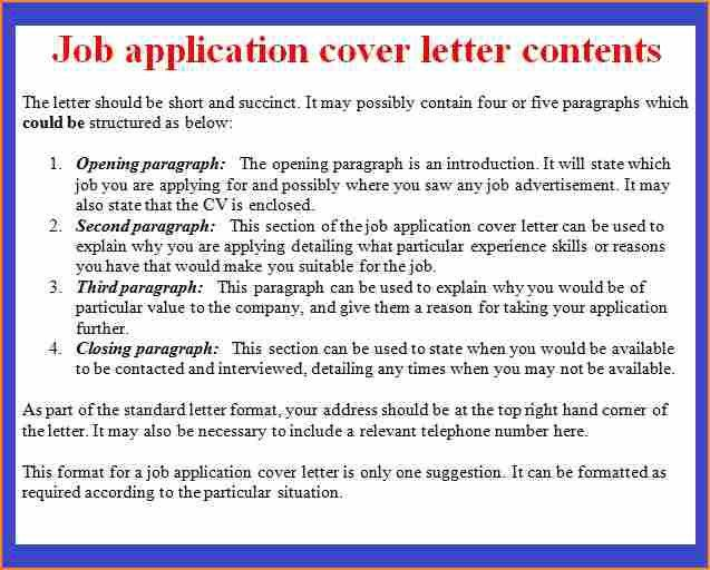 10+ format cover letter for job application - Basic Job Appication ...