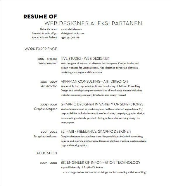 resume format for web designer web developer resume example cv