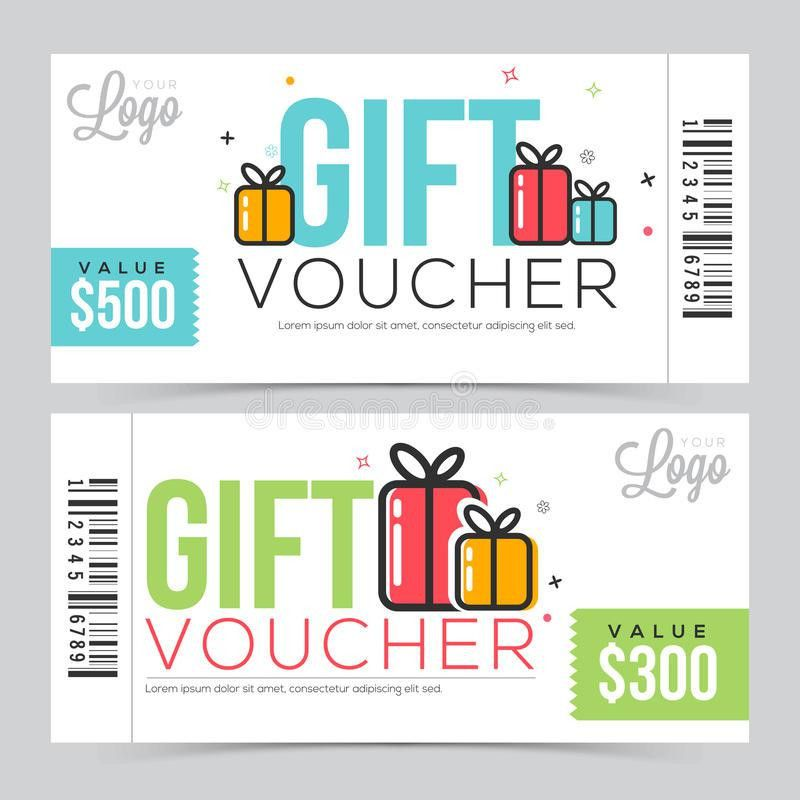 Referral Coupon Template. Creative Gift Voucher Or Coupon Template ...