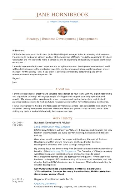 Advisor Resume samples - VisualCV resume samples database
