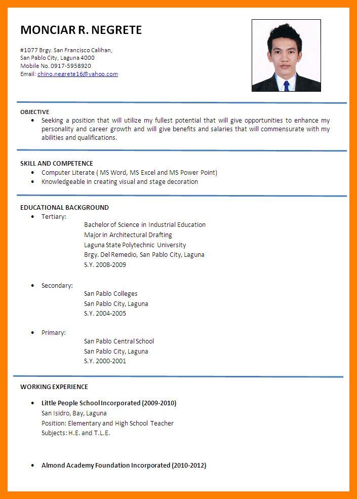 6+ formal resume sample | addressing letter