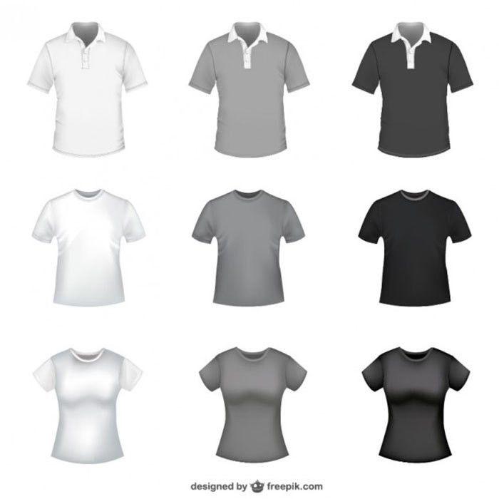 Blank T-Shirt Vector Templates: 54 T-Shirt Template Examples