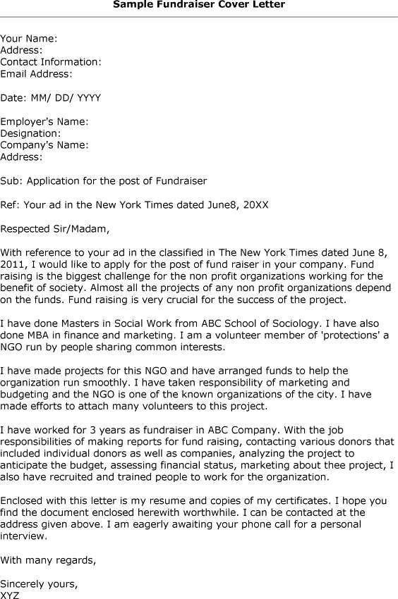 fundraiser proposal template resume for a server format of a ...