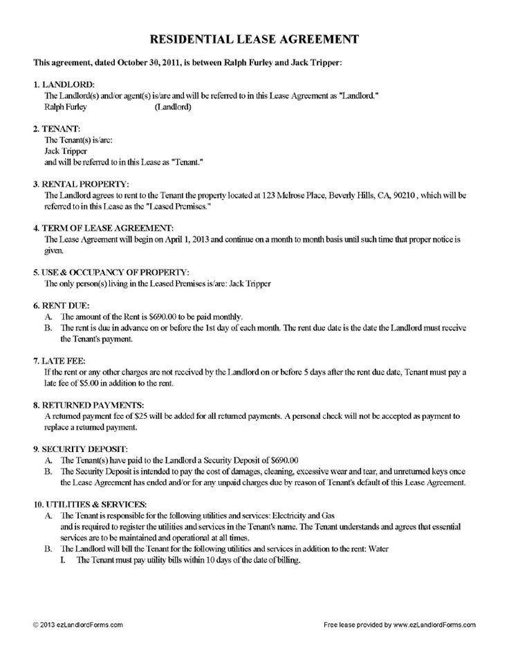 Room Rental Agreement Form. Free Room Rental Agreement Template ...