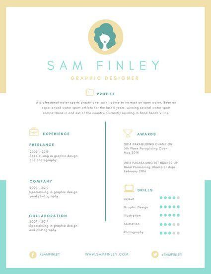 Pastel Bordered Infographic Resume - Templates by Canva