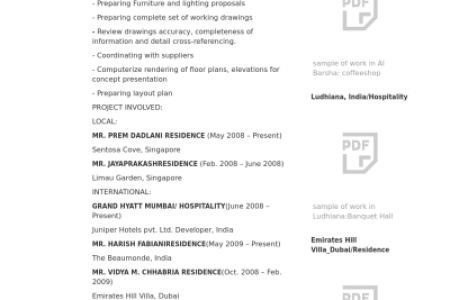 Resume Career Objective RESUMES DESIGN, Interior Design ...