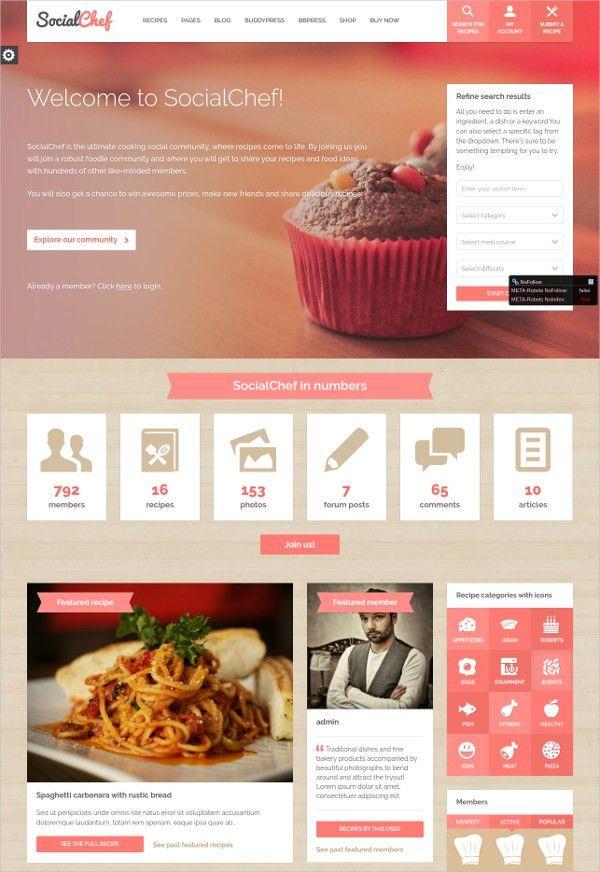 free chronological resume template%0A     Fantastic Chefs WordPress Themes  u     Templates   Free  u     Premium
