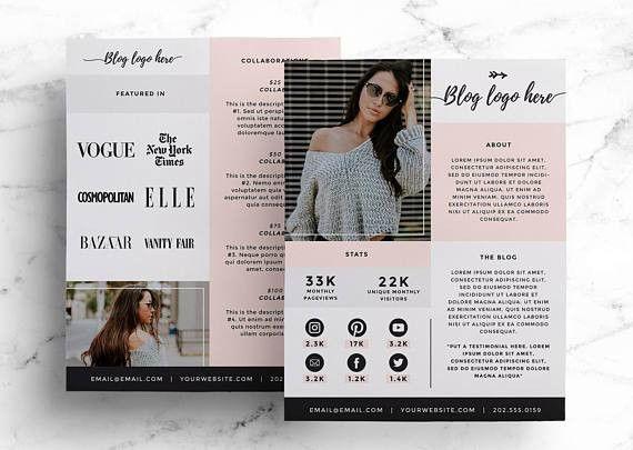 Media Kit Template for Bloggers Price List Press Kit