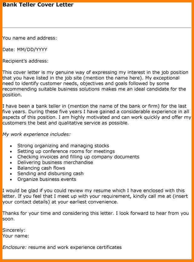 bank teller cover letter banking assistant cover letter example ...