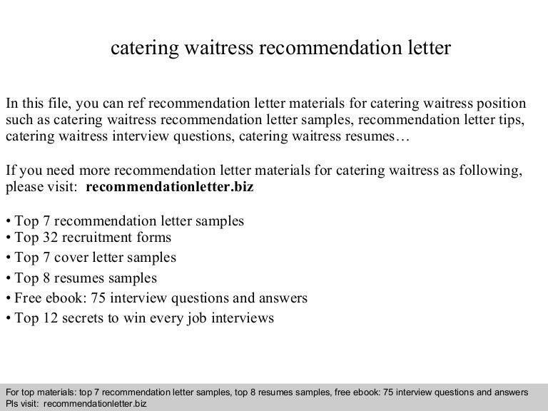 example of waitress resumes