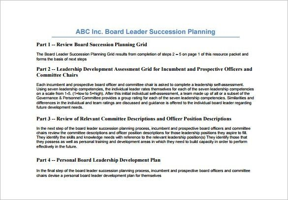Succession Planning Template - Free Word Documents Download | Free ...