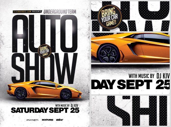 Auto Show Flyer Template - FlyerHeroes
