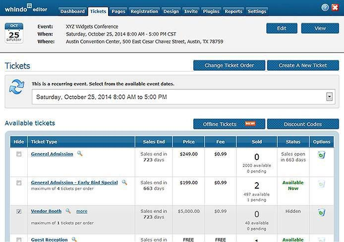 Sell Tickets Online with Whindo Event Registration Software