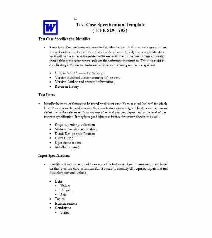 Test Plan Document Template - Contegri.com