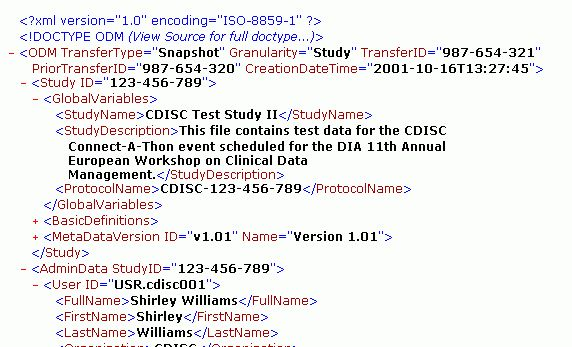 XSLT for the transformation of CDISC-ODM files