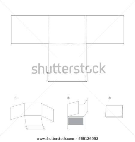 Square Envelope Die Cut Template Card Stock Vector 638324935 ...