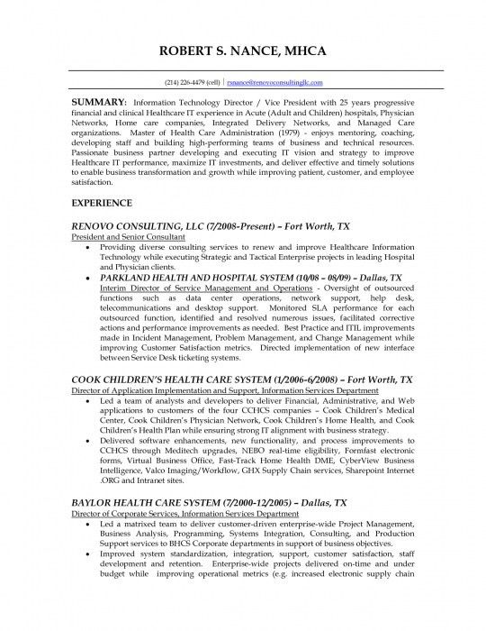 The Most Stylish Health Information Technology Resume | Resume ...