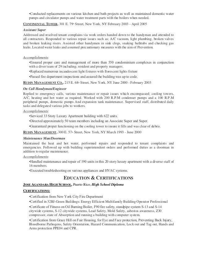 Maintenance Handyman Sample Resume - Corpedo.com