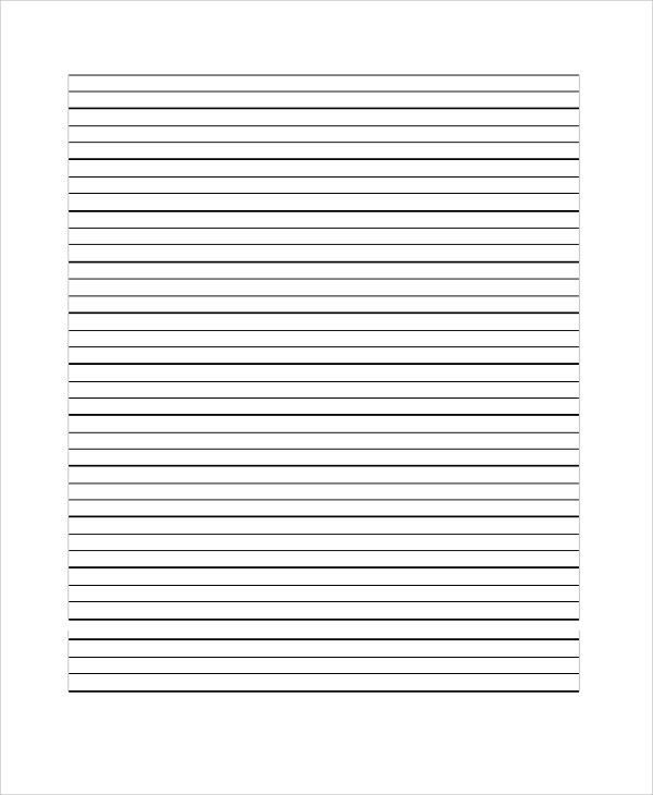 Sample Notebook Paper. Lined Notebook Paper Clipart Lined Notebook ...